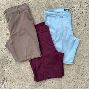 Lee Bermuda shorts bundle khaki blue maroon